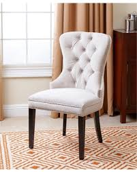 white tufted chair. Abbyson Versailles Tufted Velvet Dining Chair (Ivory) White L