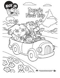 Dora Kleurplaat Kleurplaat Help Dora Met Het Doolhof 8526