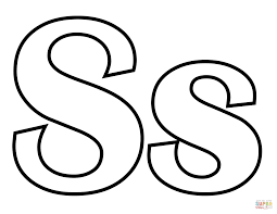 Small Picture Classic Letter S coloring page Free Printable Coloring Pages