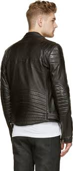Blk dnm Black Leather Quilted Biker Jacket in Black | Lyst & Gallery Adamdwight.com
