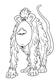 Disegno Di Scimmia Pelosa Da Colorare Disegni Da Colorare E