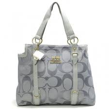 coach hamptons in printed signature large black totes aeo  coach logo  monogram large grey totes bna