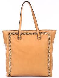 Beige Leather Tote Hobo Handbag Shopper Tote Light Brown