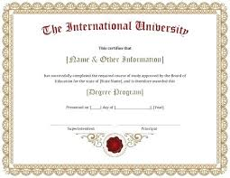 degree certificate templates college degree certificate templates template inspirational tidbits