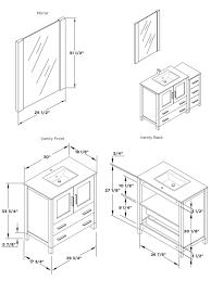 Vanity Fvn62 3012 Uns Ai Bathroom Vanity Dimensions Standard Vanitys