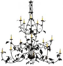 134147 oak leaf chandelier regarding oak leaf chandelier view 1 of 20