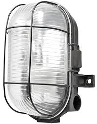 caged lighting. powermaster s5879 oval caged bulkhead light 60 w black lighting