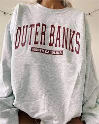 Outer Banks North Caroline State Winter Wear Women Sweatshirts |  4Colordress in 2021 | Sweatshirts, Oversized sweatshirt, Printed sweatshirts