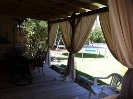 outdoor patio curtains style