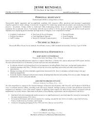 Personal Assistant Resume Sample Executive Examples Format Play Best