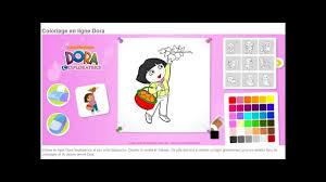 Dora L Exploratrice Jeu Coloriage En Ligne Hd Youtube