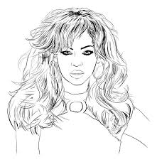 Small Picture Coloring page Famous People Beyonce 1