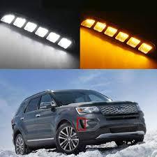 2016 Ford Explorer Led Fog Lights Amazon Com For Ford Explorer 2016 2018 Led Drl Turn