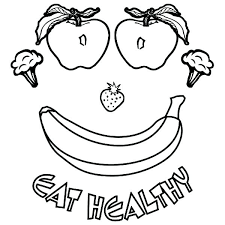 Healthy Food Colouring Pages Printable Coloring Pages Of Healthy