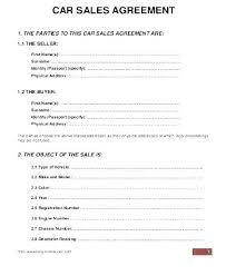 Personal Car Sale Agreement Private Car Sale Contract Template Sales Agreement Payment