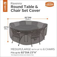 ravenna round patio table chair set cover premium outdoor furniture cover with durable and