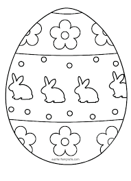 Free Online Easter Coloring Pages Basket Egg Colouring Page Template
