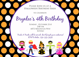 halloween birthday party invitation templates com halloween birthday party invitations birthday party invitations