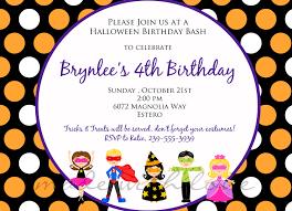 halloween birthday party invitation templates ctsfashion com halloween birthday party invitations birthday party invitations
