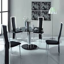 black round dining table and chairs. Glass Dining Table And 4 Chairs UK. Black Round S