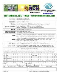 race in application form 2012 race registration form now available connors 5k run