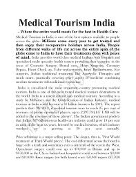 research project on medical tourism 32 in