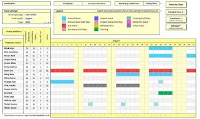 Vacation And Sick Time Tracking Excel Template Employee