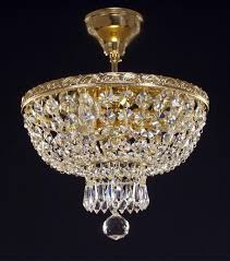 czech crystal chandelier golden