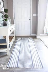 striped runner rugs modern blue and white rug sevenstonesinc com regarding 6
