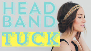 Headband Hair Style easy diy hair style tutorial the headband tuck youtube 7210 by wearticles.com