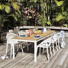 coast teak top aluminium table 2120x900mm