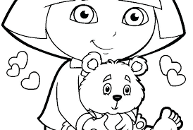 dora explorer coloring pages backpack boots print free printable coloring the explorer for kids dora the