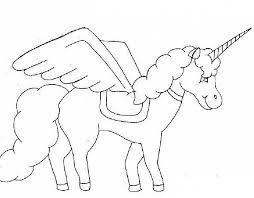 Unicorno Da Colorare Per Bambini Piccoli Disegno