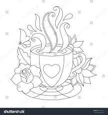 Coffee Cup Coloring Pages Coffee Cup Coloring Pages Coloring Page