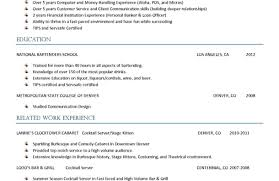 Example Of Server Resume Construction Job Description For Resume