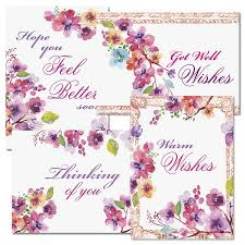 Get Well Card Floral Frame Get Well Cards