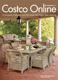 patio furniture photography on cover of costco issue march to april 2016