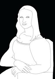 Ideas Mona Lisa Coloring Page For Coloring Page Amazing Coloring