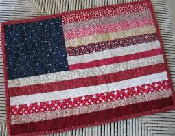 65 best American flag quilts images on Pinterest | American flag ... & Scrappy American Flag Quilted Wall Hanging/Table Topper Adamdwight.com