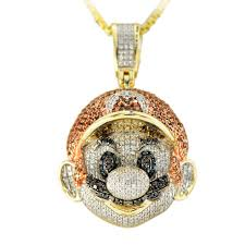 1jdp 113668 diamond mario pendant