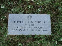 Phyllis Ada Nichols Atwood (1925-2011) - Find A Grave Memorial