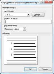 Оформление списков в дипломе Рисунок 2 Переопределение формата нумерации