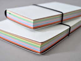 Ciak White Leather Journal With Multicolored Pages Pretty Great