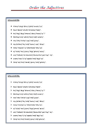 of the Adjectives PDF
