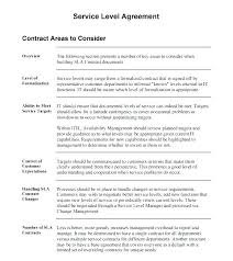 Service Agreement Samples Simple Service Level Agreement Template