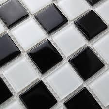 g86wb4s black and white glass mosaic tiles affordable kitchen and bathroom backsplash swimming pool tile