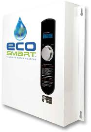 Hot Water Heater Setting Ecosmart Whole House 27kw 220 240v Tankless Hot Water System On