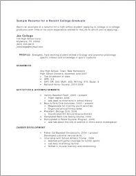 Best Resume Format For Recent College Graduates Resume Templates For Recent College Graduates Emelcotest Com