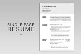 Modern Typographic Resume Set All In One Modern Resume Box V 2 By Snipescientist On