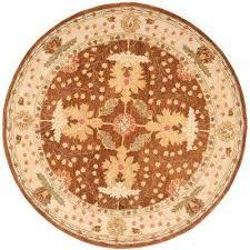 anatolia brown beige 8 ft x 8 ft round area rug